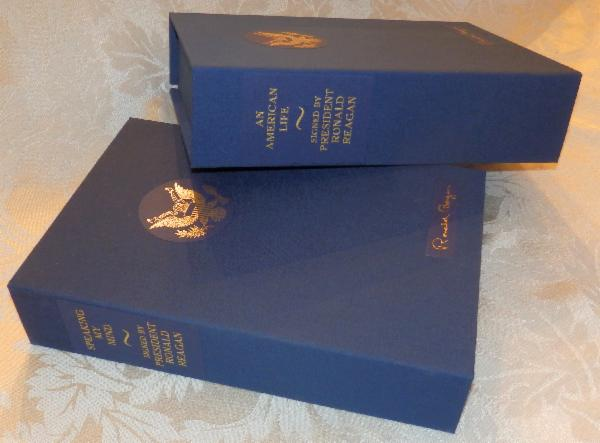 Custom Made and Fitted Book Boxes for An American Life and Speaking My Mind