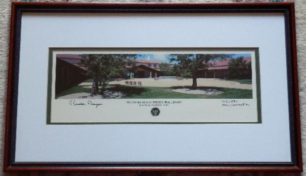 Signed LIMITED 1st EDITION PHOTOGRAPHIC PRINT of The Ronald Reagan Presidential Library