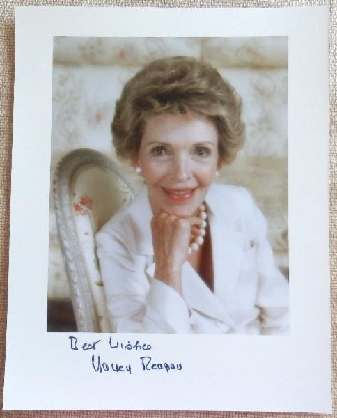Nancy Reagan Signed 8 x 10 Color Photo