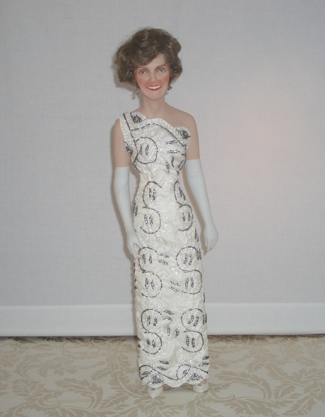Nancy Reagan Signed and Dated Danbury Mint First Lady Doll