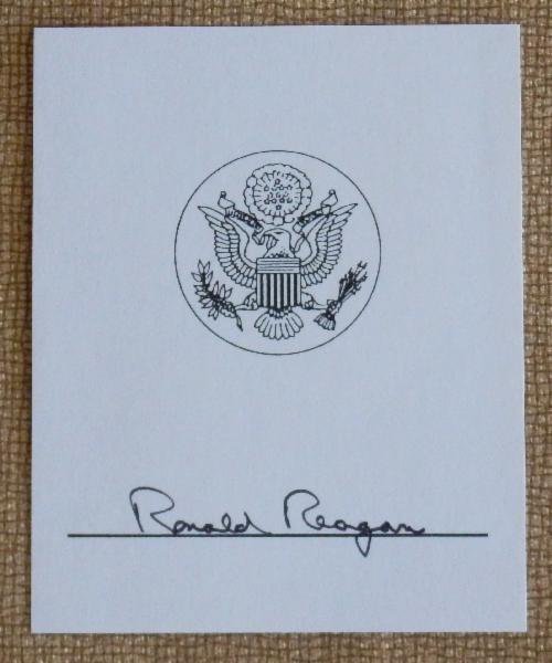 Ronald Reagan Signed Presidential Booplate