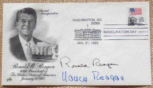 NEW Ronald Reagan and Nancy Reagan Signed First Day Cover Jan. 20, 1985 Inauguration Day