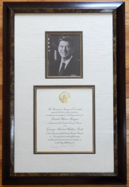 Ronald Wilson Reagan Signed 1981 Inaugural Invitation