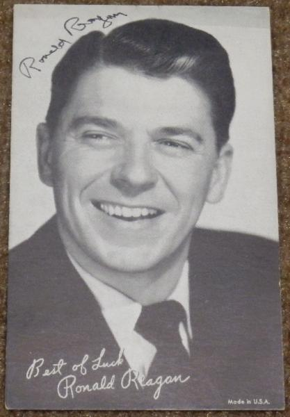 Ronald Reagan Signed Vintage Photo Card