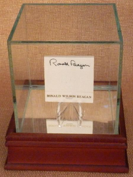 Ronald Reagan Rare Signed White House Matchbook with Display Case