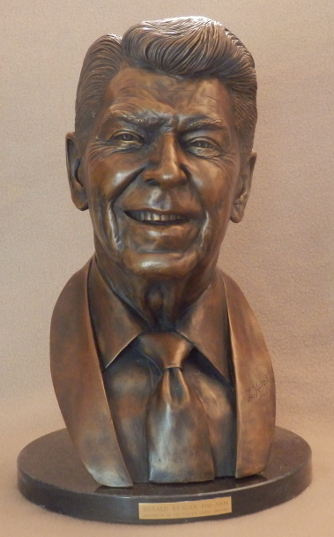 Limited Edition Bronze Bust of Ronald Reagan by Renowned Sculptor Lawrence Heyda
