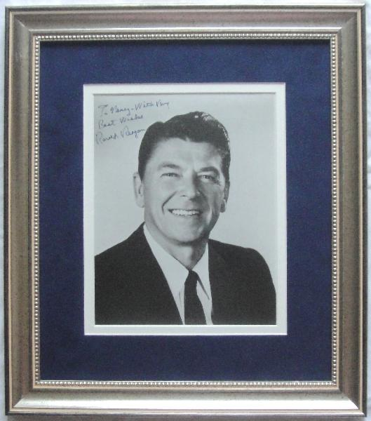 Ronald Reagan Signed Classic Photo Framed